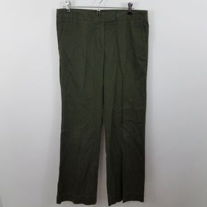 ~ J crew Chinos 6 Womens Pants City Fit Army Green